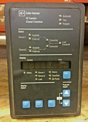 Eaton Cutler Hammer Atc-600 Controller Automatic Transfer Switch