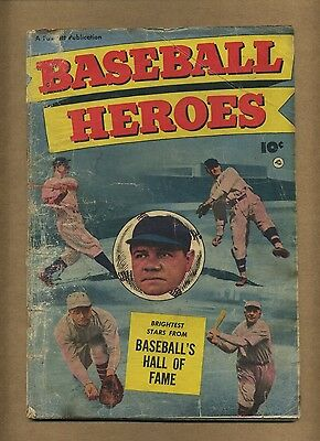 Baseball Heroes (FR-) Fawcett Comics 1952 Babe Ruth SCARCE Golden Age (c#11110)