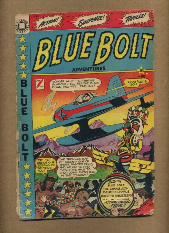 Blue Bolt Adventures 103 (FRPR) Accepted Publications 1958 Reprints (c#11167)