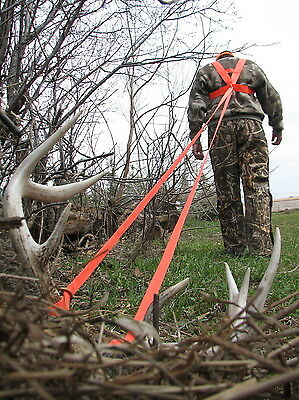 Heavy Hauler Deer Drag Harness Big Game Deer Antelope Blaze Orange Drag New!
