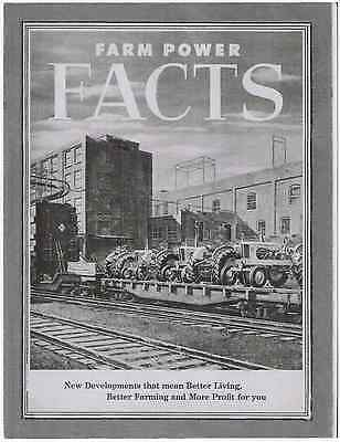 Allis Chalmers Farm Power Facts Sales Brochure Manual Tractors
