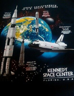 Great Achievements in US Space History Large T-Shirt NASA Kennedy Center, used for sale  New Waterford