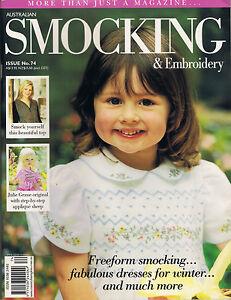 Australian Smocking & Embroidery Magazine issue 74 BRAND NEW