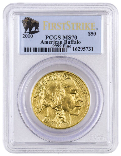 2010 1 oz Gold American Buffalo $50 Coin PCGS MS70 FS Mint State 70