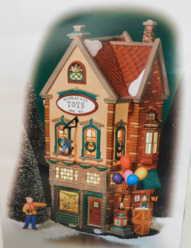 """Dept 56 - Christmas In The City """"NICHOLAS & CO. TOYS"""" 2pc. - New - 56.58929"""