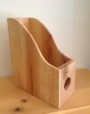 Natural Wood Magazine File Magazine Rack Desk Organizer File Organizer Holder