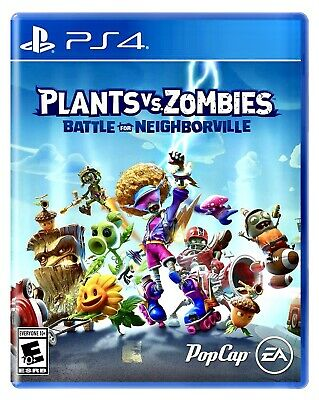 PLANTS VS ZOMBIES BATTLE FOR NEIGHBORVILLE PS4 BRAND NEW SEALED PLAYSTATION 4