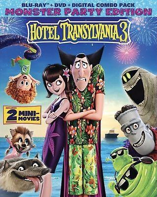 HOTEL TRANSYLVANIA 3:SUMMER VACATION(BLU-RAY+DVD+DIGITAL CODE)W/SLIPCOVER NEW