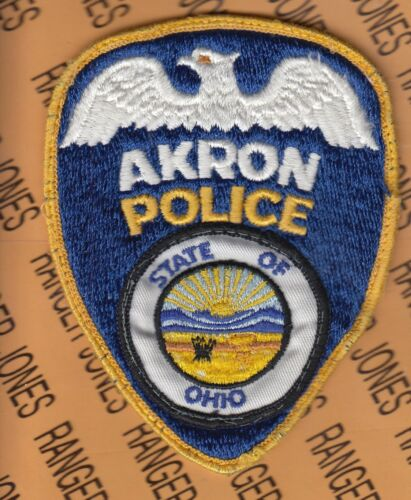 """AKRON POLICE State of Ohio Original 4.75"""" PD LEO pocket patch"""