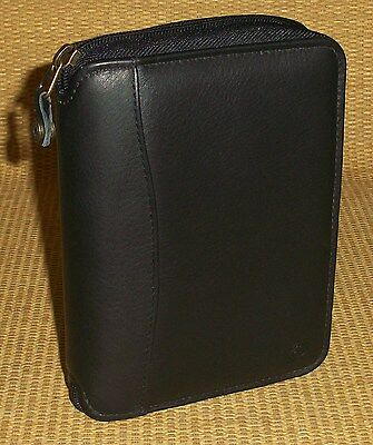 Pocket 1 Rings Black Nappa Leather Franklin Covey Plannerbinder Spacemaker