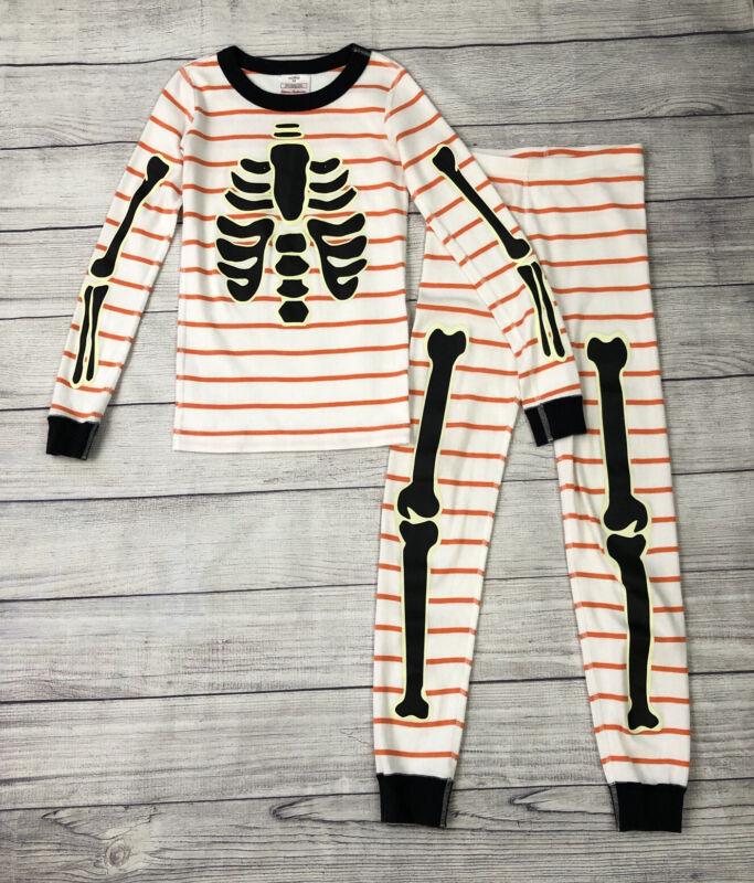 Hanna Andersson Glow in the Dark Skeleton Long John Pajamas Size 130 | 8