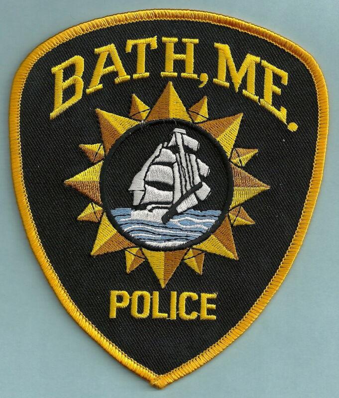 BATH MAINE POLICE SHOULDER PATCH SAILING SHIP!