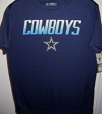 DALLAS COWBOYS KIDS YOUTH LARGE SIZE 16-18 T-SHIRT WITH MULTI-COLORED TEAM NAME