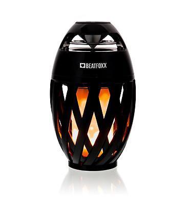 Portabler Bluetooth Outdoor Garten Lautsprecher Speaker Box LED Kerze Deko Lampe
