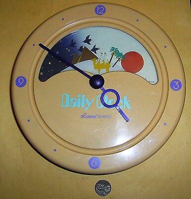 """8"""" Diameter Laurel Quartz Wall Daily Clock - Made in Japan"""
