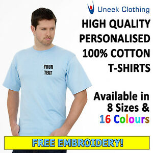 NEW-Personalised-Uneek-Embroidered-T-Shirts-Workwear-Customised-T-shirts-UC301