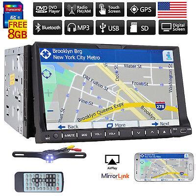 "7"" Double Din InDash GPS Navigation Car DVD Radio Stereo Player Bluetooth+camera"
