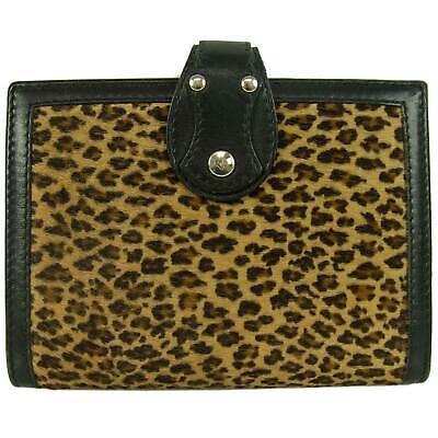 Fendi Leopard Animal Print Calf Hair Agenda Cover Organizer Diary Planner