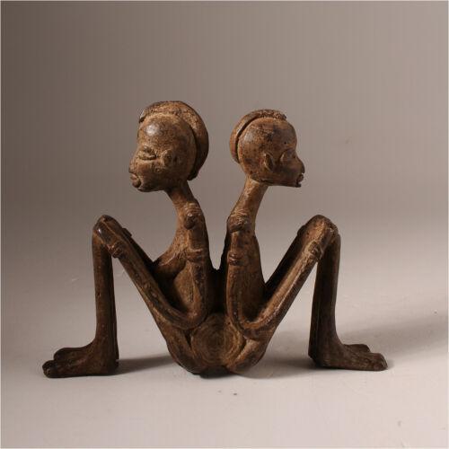 10857 Akan Bronze Figure Elfenbeinkuste Lost Form