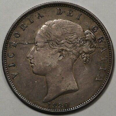 1880 British Half Crown - Original - Planchet Flaw?