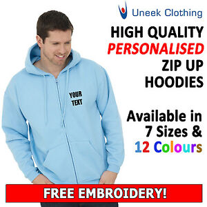 NEW-Personalised-Uneek-Embroidered-Zip-up-Hooded-SweatShirts-hoodies