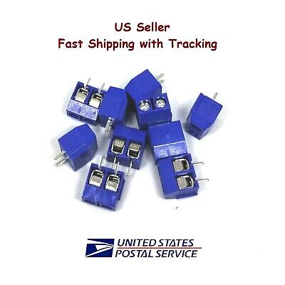 10 Pieces Kf301-2p Screw Terminal Block Connector 2 Pin- Us Seller Fast Shipping