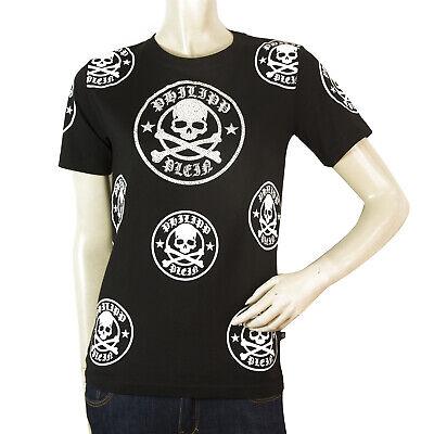 Philipp Plein Junior Black Skulls Top Cotton T - Shirt for boys or girls sz 12
