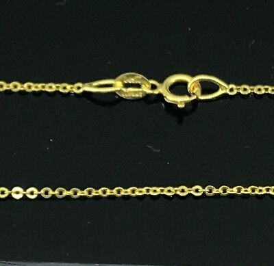 (14K Yellow Gold 18 Inchs Rolo Chain 1.100 Grams Made In Italy z2)