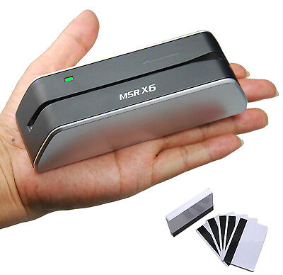 New Usb Smallest Magnetic Stripe Credit Card Reader Writer Encoder Msr X6