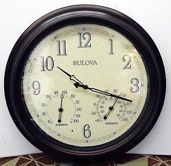 BULOVA INDOOR/OUTDOOR AGED BRONZE FINISH WALL CLOCK 17.75 DIAMETER C4813