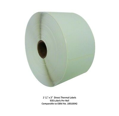 2.25 X 3 Direct Thermal Labels - 1 Roll - Zebra Compatible 10010042