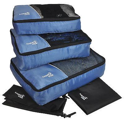 HOPEVILLE Kleidertaschen-Set - 3 Koffertaschen, PLUS Wäschebeutel und Schubeutel