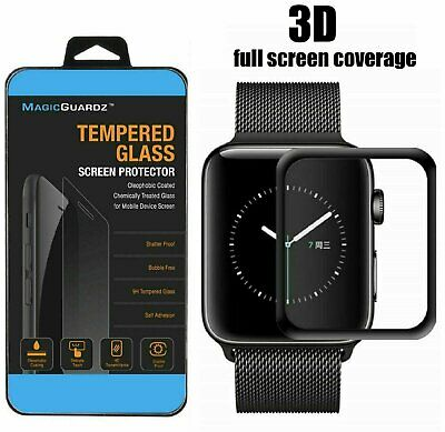 For Apple Watch 5 44/40mm 3D Curved Tempered Glass Full Cover Screen Protector Cell Phone Accessories