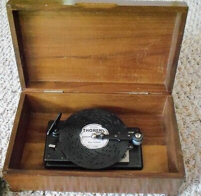 Thoren's AD30 Music Box with 12 discs made in Switzerland