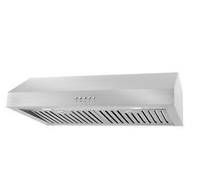 30 in Under Cabinet Range Hood (OPEN BOX) Stainless Steel, Washable Filters, LED