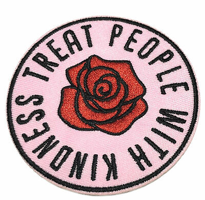 Treat People With Kindness 70s hippie retro boho love applique iron-on patch new
