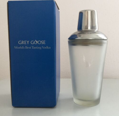 Grey Goose Vodka  Cobbler 3 Piece 10 oz Cocktail Shaker by Libby Duratuff - NIB