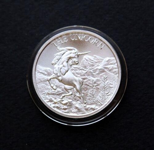 The Unicorn Silver Round,1 oz .999 Silver BU Coin-Airtite Capsule