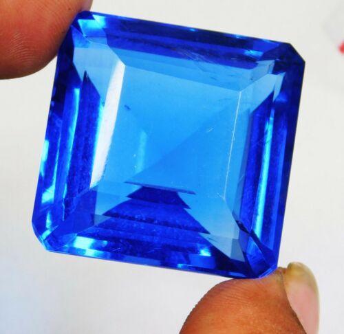 110.90 Ct Natural Emerald Cut Ocean Blue Aquamarine Loose Gemstone