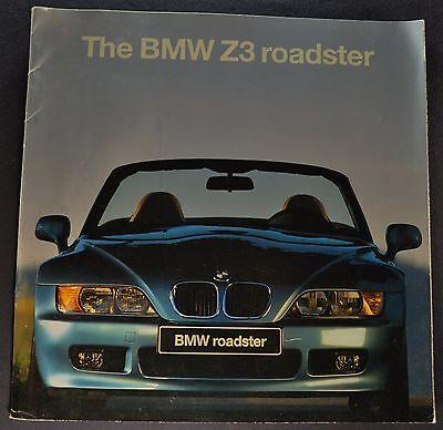 1996 BMW Z3 Roadster Catalog Sales Brochure Nice Original 96