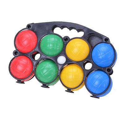 Boccia Spiel Boule Set mit 8 Kugeln & Tragekorb Kunststoff Petanque Wurfspiel