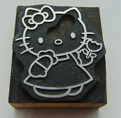 Printing Letterpress Printers Block Hello Kitty