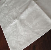 Double Damask Linen Tablecloth