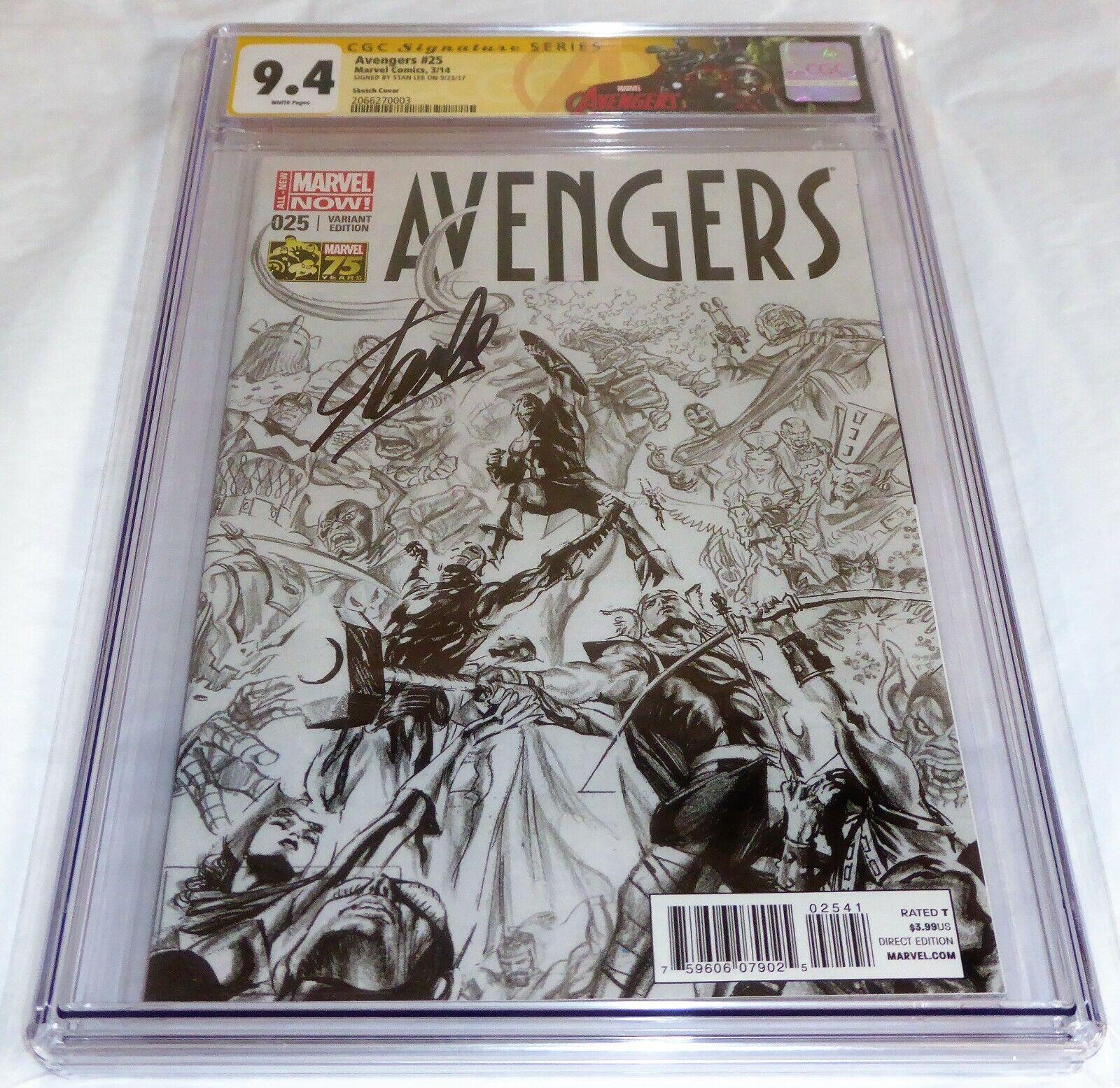 Avengers #25 1:200 CGC SS Signature Autograph STAN LEE Sketch Cover Variant MCU