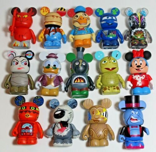 """Disney Vinylmation Mixed Lot of 14 Different 3"""" Figures"""