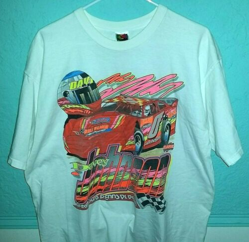 Rare 1999 Vintage Davey Johnson #0 Dirt Racing Double-Sided T-Shirt- Size XL