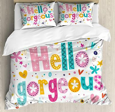 Colorful Quote Duvet Cover Set Twin Queen King Sizes with Pi