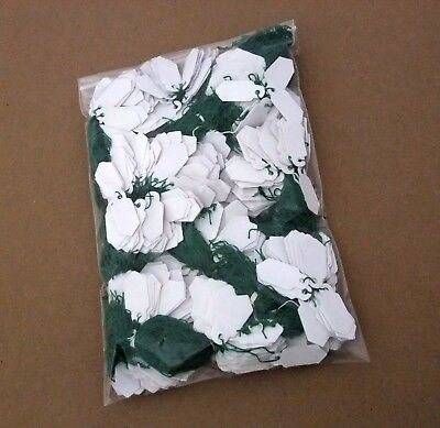 1000 String Jewelry Pricing Tags White Tag Green String