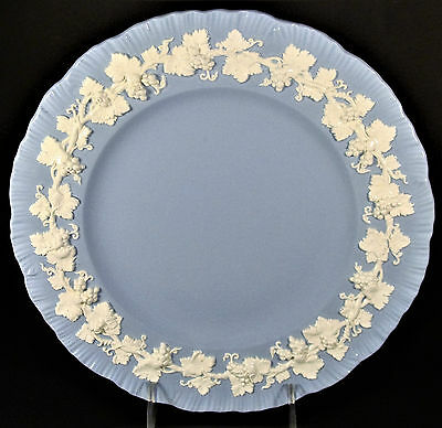 Lot of 5 Vintage Wedgwood Queens Ware Cream on Lavender Dinner Plates 10 1/2