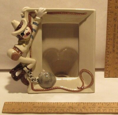 COWBOY PICTURE FRAME - 00141 Lefton - COWBOY with BALL and CHAIN - Ceramic](Ball And Chain Movie)
